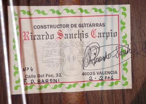 Flamenco Gitarre Ricardo Sanchis Carpio